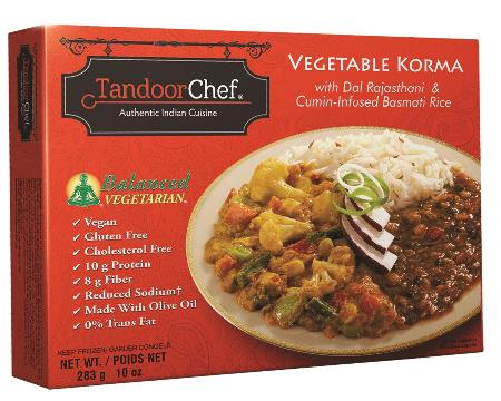 Tandoor Chef's Vegetable Korma , as seen in vegetariangazette.com
